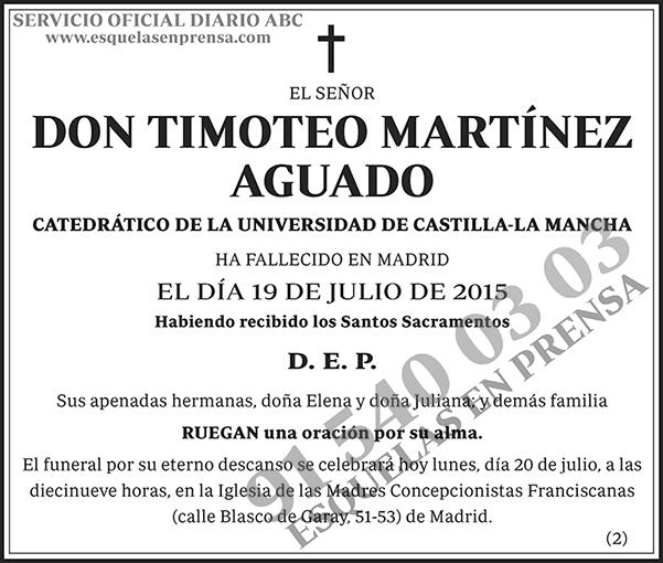 Timoteo Martínez Aguado